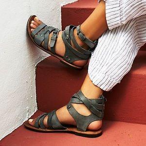 Free People Durango Metal Gladiator Wrap Sandal